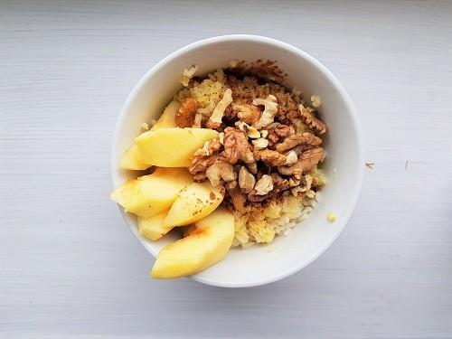 Ryżanka na mleku z cynamonem i orzechami/ 15 minut